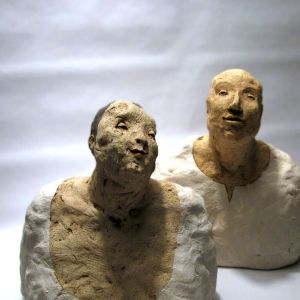 Couple in White, Busts, 22 cm